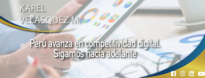 El Perú avanza en competitividad digital. Sigamos hacia adelante.